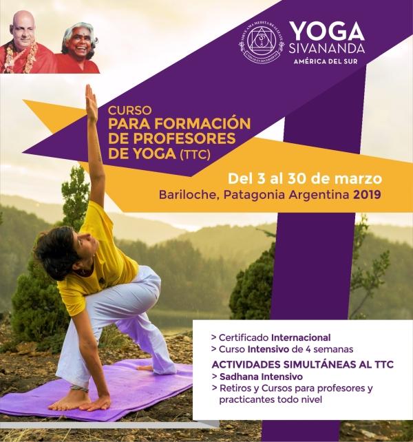 Yoga Sivananda - TTC Bariloche 2019 - Curso para formación de profesores
